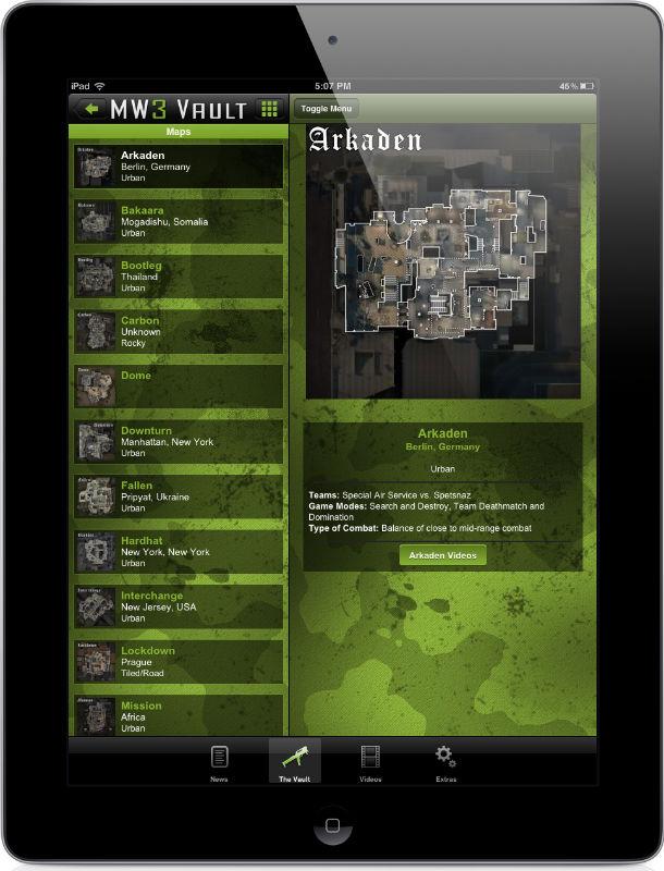 MW3 Vault: Call of Duty Modern Warfare 3 App | iPhone, iPad