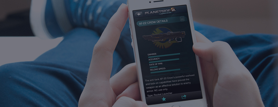Planetside 2 companion app developed by AppBurst